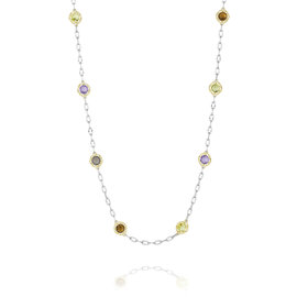Tacori Silver Color Medley Candy Drop Necklace