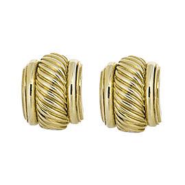 David Yurman Estate 18K Yellow Gold Cable Earrings