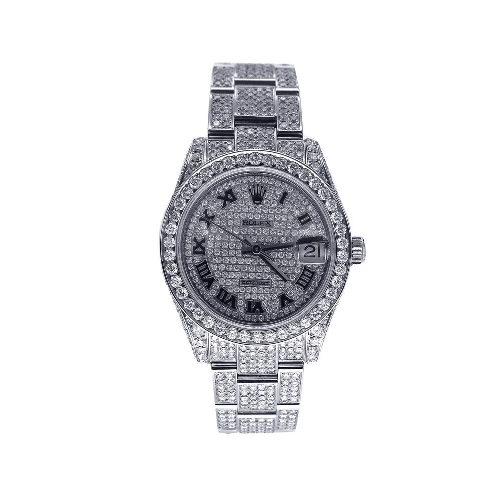"Image of ""Aftermarket Diamond Rolex Datejust 31Mm"""