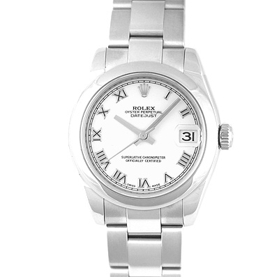 "Image of ""Rolex Datejust 178240 Stainless Steel White Roman Dial Automatic 31mm"""