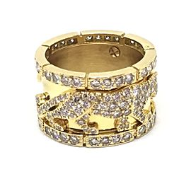 Cartier 18K Yellow Gold & Diamond Walking Panthere Ring Size 6.5