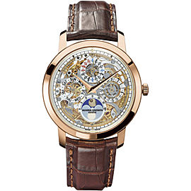 Vacheron Constantin Traditionnelle 43172/000R-9241 18K Pink Gold with Skeleton Dial 39mm Mens Watch