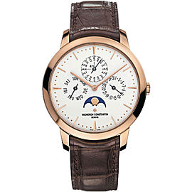 Vacheron Constantin Patrimony 43175000R-9687 18K Pink Gold / Leather 41mm Mens Watch