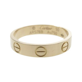 Cartier Mini Love 18K Pink Gold Ring Size 5.25
