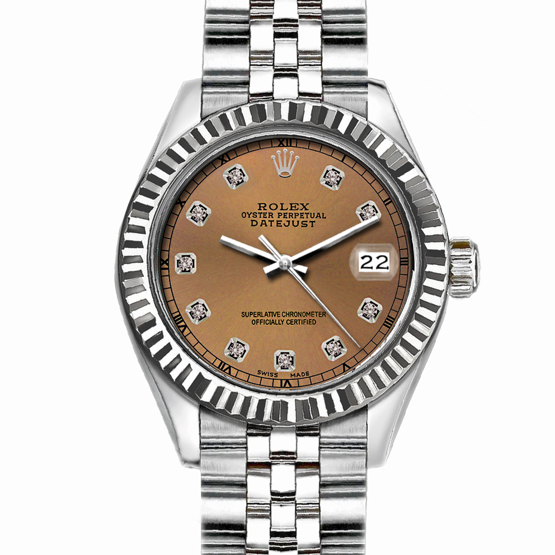 "Image of ""Rolex Datejust Stainless Steel with Brown Dial 36mm Men Watch"""