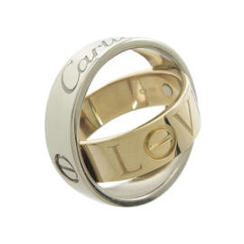 Cartier Love 18k White and Rose Gold Ring Size 4