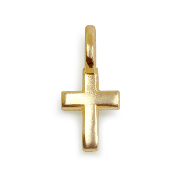"Image of ""Alex Woo Mini Gold Cross Charm"""
