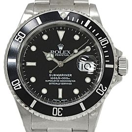 Rolex Submarine 16610 Stainless Steel Black Dial Automatic 40mm Men's Watch