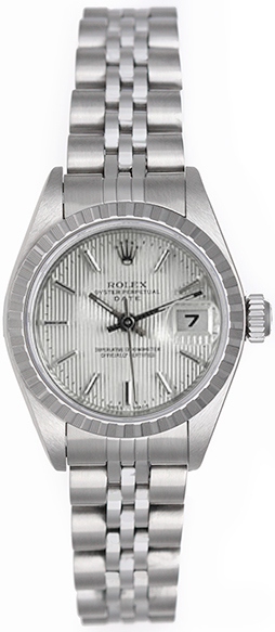 """Image of """"Rolex Date 79240 Stainless Steel 26mm Womens Watch"""""""