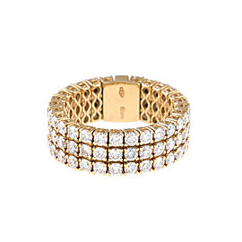 Stretch Collection 18K Yellow Gold Diamonds Ring