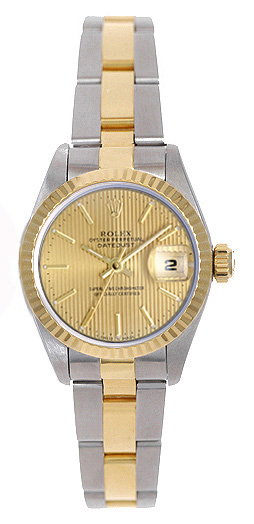 """Image of """"Rolex Datejust 79173 Stainless Steel Champagne Tapestry Dial 26mm"""""""