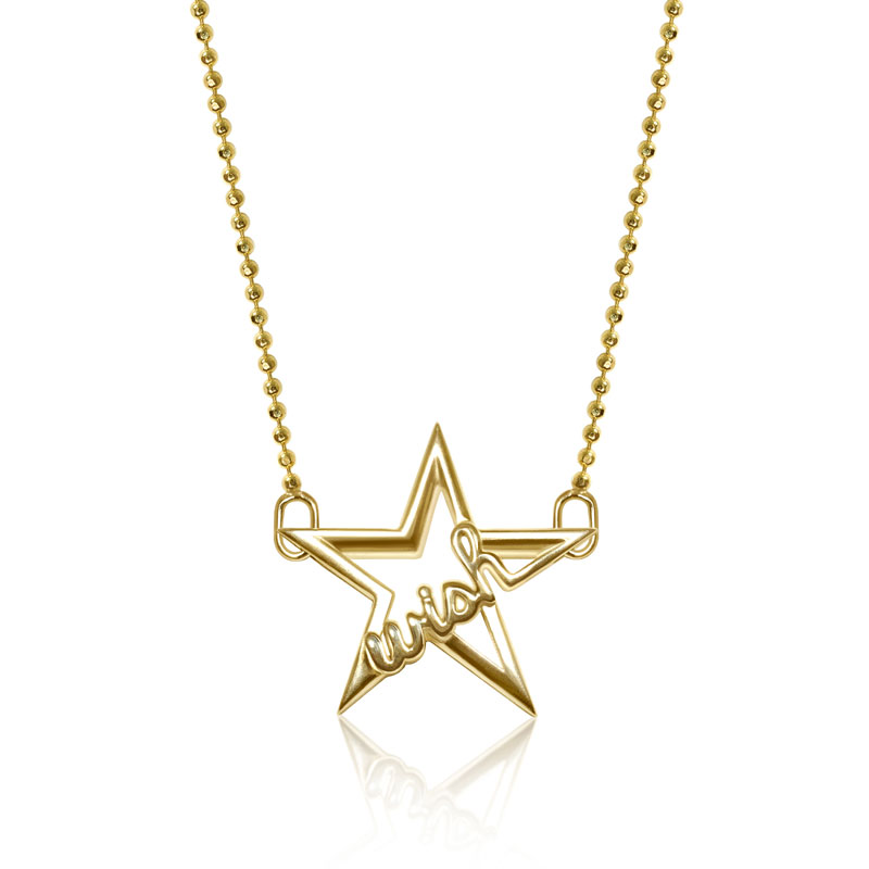 "Image of ""Alex Woo Little Words Wish Star Necklace"""
