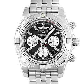 Breitling Chronomat AB 0110 Stainless Steel Black Dial Automatic 44mm Mens Watch