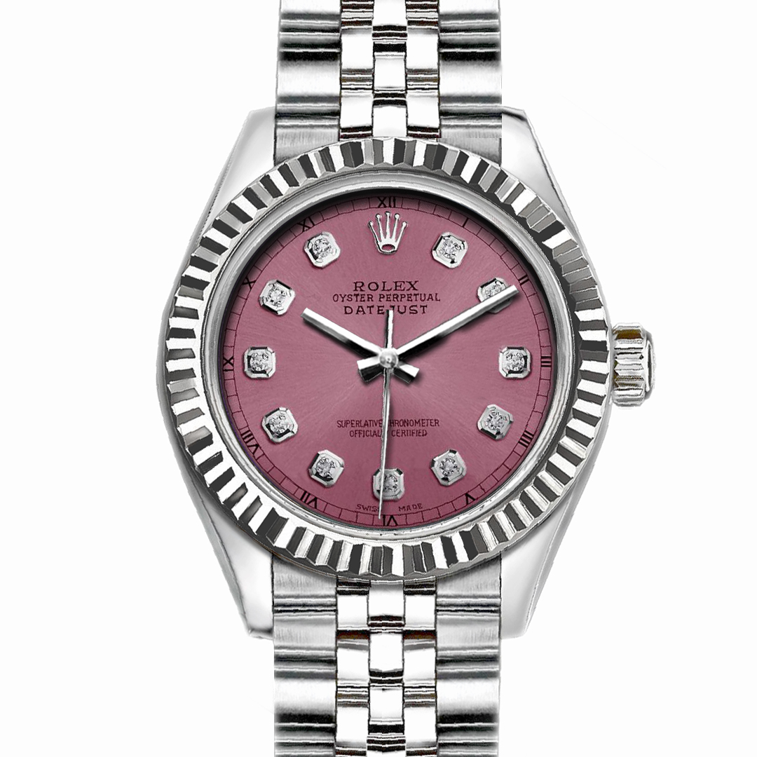 "Image of ""Rolex Datejust Stainless Steel with Light Purple Dial 36mm Men Watch"""