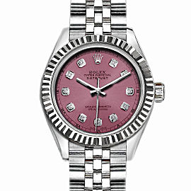 Rolex Datejust Stainless Steel with Light Purple Dial 36mm Men Watch