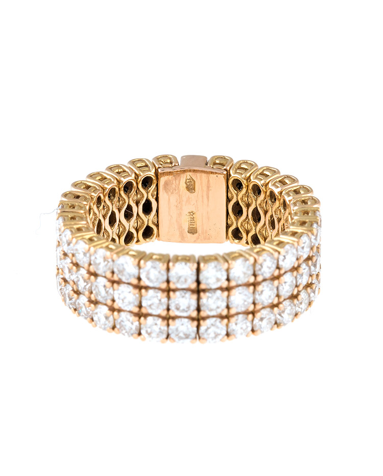 "Image of ""Stretch Collection 18K Rose Gold Diamonds Ring"""