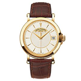 Patek Philippe Calatrava 5153J 18K Yellow Gold & Leather 38mm Watch