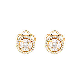 Mosaic Collection 18K Yellow Gold Diamonds Earrings