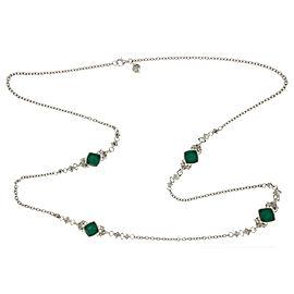 Stephen Webster 925 Sterling Silver Chrysoprase & Quartz Crystal Necklace