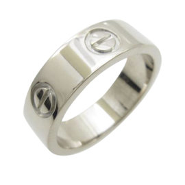 Cartier Love 750 White Gold Ring Size 5.75