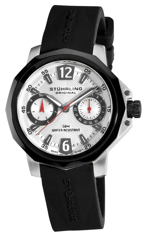 "Image of ""Stuhrling Vogue 332 332.122D62 Stainless Steel & Rubber 36mm Watch"""