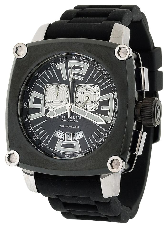 """Image of """"Stuhrling Milano Piazza Chrono 614.33161 Stainless Steel & Rubber 47mm"""""""