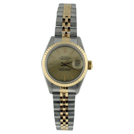 Rolex Datejust 18K Yellow Gold & Stainless Steel 26mm Womens Watch