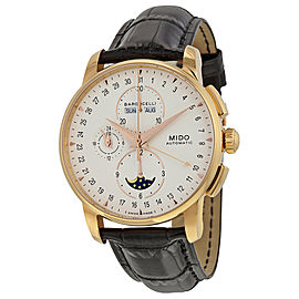 Mido Baroncelli Moonphase Chronograph Rose Gold PVD Stainless Steel & Leather 42mm Watch