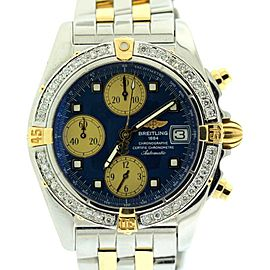 Breitling Chronographe B13358 Yellow Gold & Stainless Steel Mens Watch