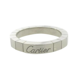 Cartier 18K White Gold Lanieres Ring Size 5.25