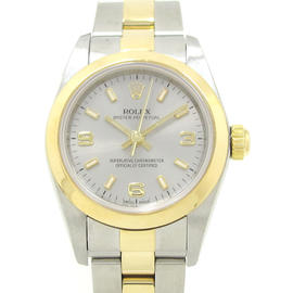 Rolex Oyster Perpetual Stainless Steel & Yellow Gold Automatic 25mm Womens Watch