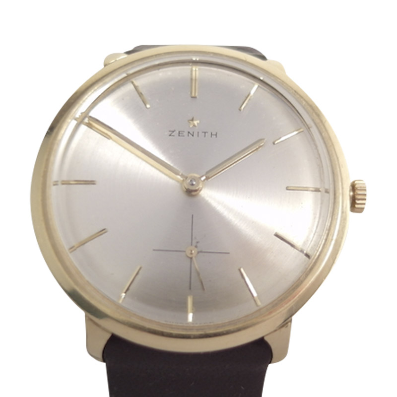 "Image of ""Zenith 18K Yellow Gold Vintage 35mm Mens Watch"""