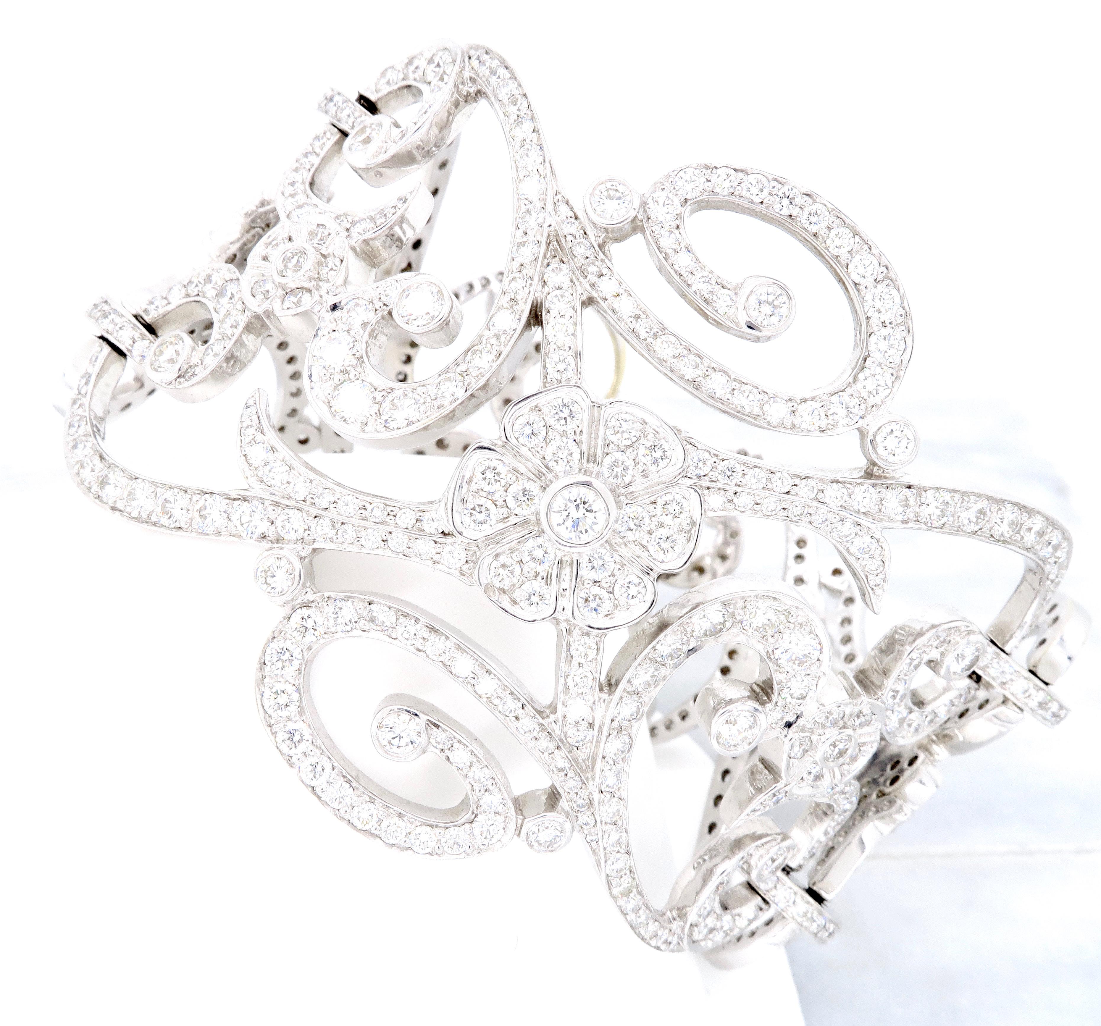 "Image of ""18K White Gold Penny Preville 13.37Ctw Diamond Bracelet"""