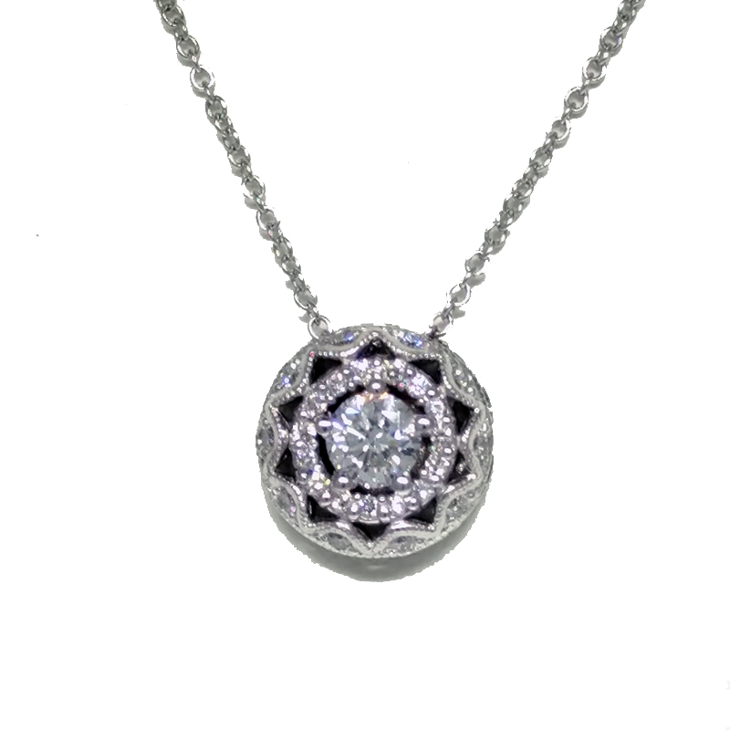 "Image of ""Tacori 18K White Gold & Diamond Pendant Necklace"""