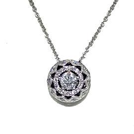 Tacori 18K White Gold & Diamond Pendant Necklace