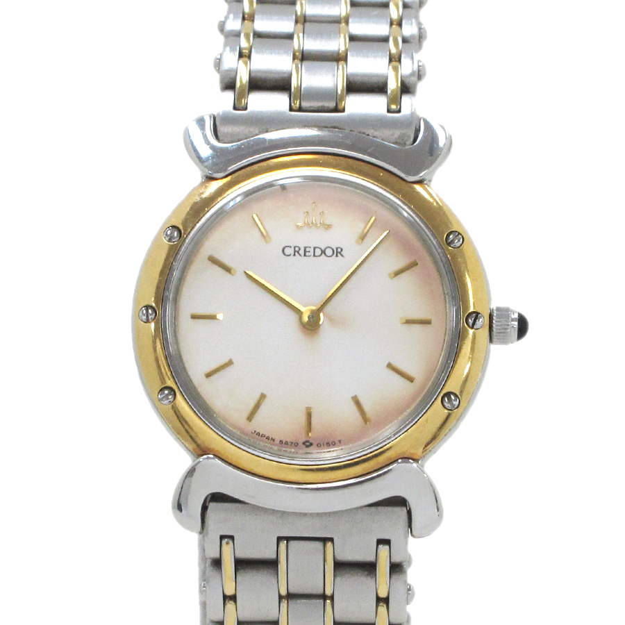 """Image of """"Seiko Credor Stainless Steel And Yellow Gold Quartz 20 mm Women's"""""""