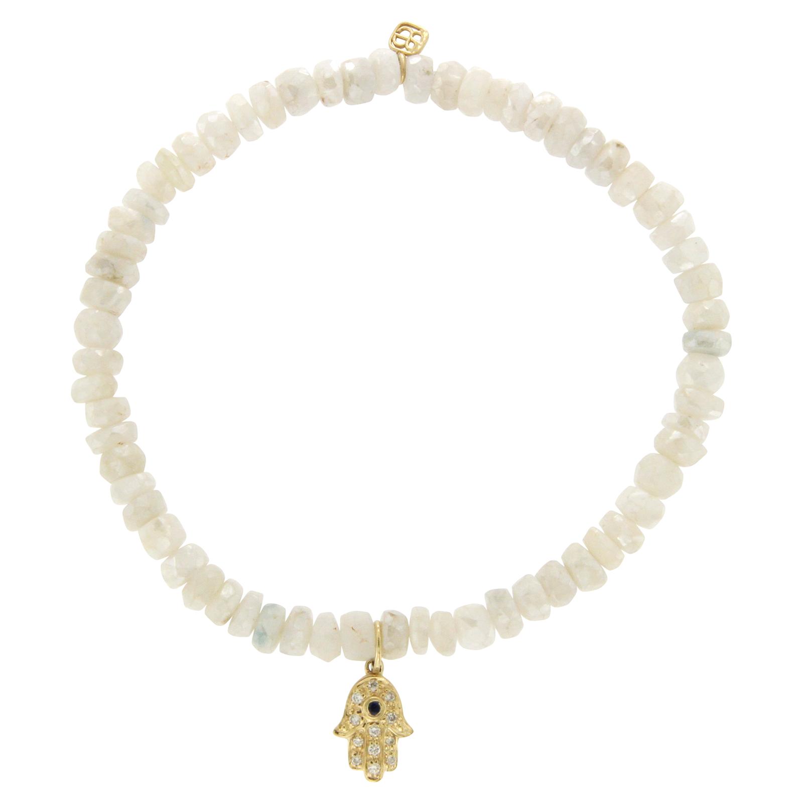 "Image of ""Sydney Evan 14K Yellow Gold Diamond Moonstone Bead Bracelet"""