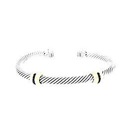David Yurman Cable Classics Sterling Silver & 14K Yellow Gold Sapphires Bracelet