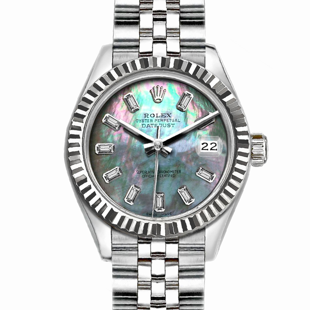 """Image of """"Rolex Datejust Stainless Steel with Mother of Pearl Dial 26mm Womens"""""""