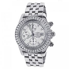 Breitling Windrider A13356 Stainless Steel & 6.50ct Diamond 44mm Watch