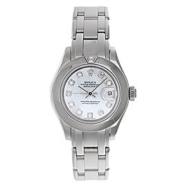 Rolex Masterpiece/Pearlmaster 69329 18K White Gold 29mm Womens Watch