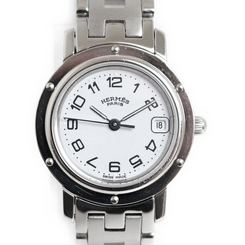 "Image of ""Hermes Clipper CL4 .210 Stainless Steel Quartz 24mm Womens Watch"""