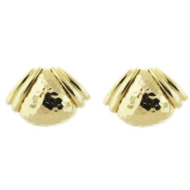 Hammerman Brothers 18K Yellow Gold Heavy Ear Clips