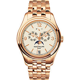Patek Philippe 5146/1R-001 18K Rose Gold with Cream Dial 39mm Mens Watch