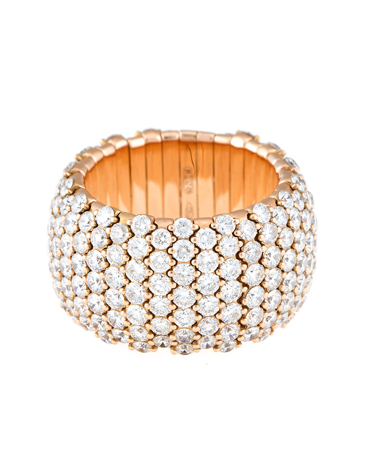 "Image of ""Stretch Collection 18K Gold Diamonds Ring"""