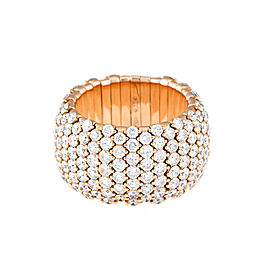 Stretch Collection 18K Gold Diamonds Ring