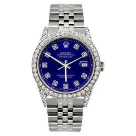 Rolex Datejust Stainless Steel & Diamond 36mm Watch