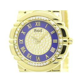 Piaget Tanagra 17043 M401D Diamond 18K Gold Quartz 33mm Mens Watch