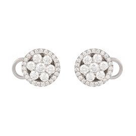 Roberto Coin 18K White Gold 0.72ct Cluster Diamond Earrings