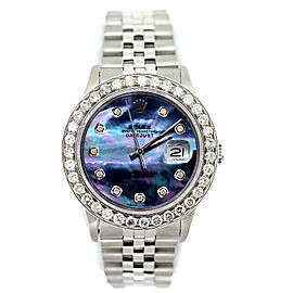 Rolex Datejust Diamond Blue Dial Stainless Steel 36mm Watch